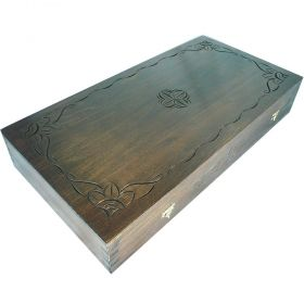 Кутия за табла с дърворезба Саралия - ръчна изработка 48/48