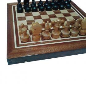 Комплект шах и табла ръчна изработка 34/34