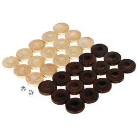 Дървени пулове за табла от бук - 35 мм