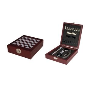 Шах с комплект за вино и 4бр. аксесоари