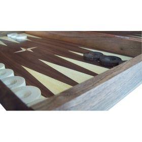 Специален комплект за професионален шах мат от фурнир американски орех и африканско кото