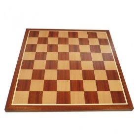 Дъска за шах с естествен фурнир махагон/ясен 48/48