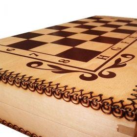 Кутия за шах и табла бук - пирограф 48/48