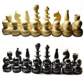Дървени фигури за шах 90 мм - бели/ черни