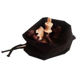Дървени фигури за шах Стаунтон 5 в памучна торба