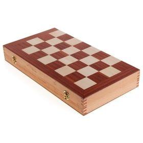 Комплект шах и табла Modiano, натурално дърво, 50x47 см
