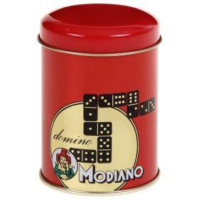Домино Модиано в метална кутия