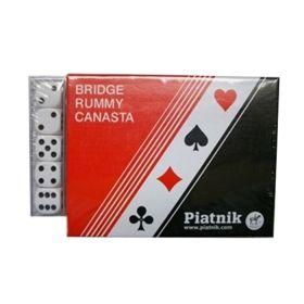 Карти за игра Piatnik, модел Standart , в комплект с 2 тестета карти и 5 бр. зарчета