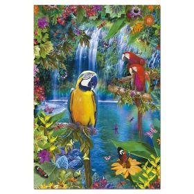 Пъзел Едука 500 части Bird Tropical Land