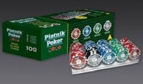 Комплекти за покер / съдържат 100  чипа с номинал/