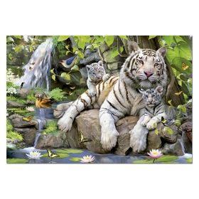 Пъзел Едука 1000 части White Bengal Tigers