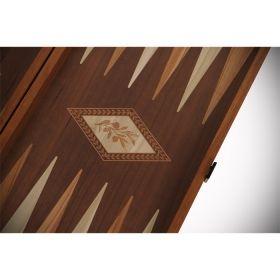 Дървена табла и шах Manopoulos, цвят венге + дъб сонома, голям размер