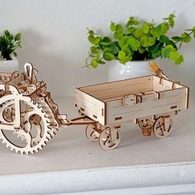 Механичен 3D пъзел Ugears - Ремарке за трактор