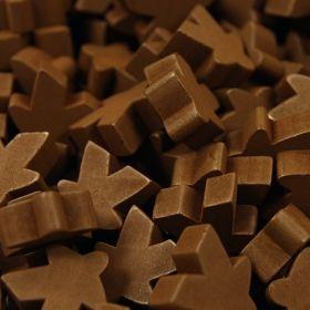 Комплект дървени фигурки (Meeples) за Каркасон - кафяви
