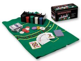 Комплект с покер чипове - Texas Hold'еm Poker Set