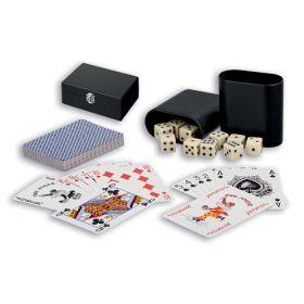 Комплект зарове и карти за покер в кутия
