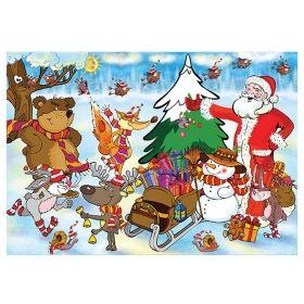 Детски пъзел Avis - Посрещане на Дядо Коледа - 40 ч.
