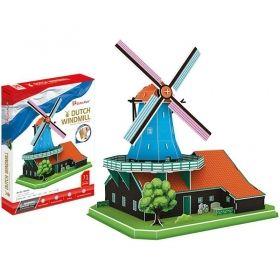 3D Пъзел Cubic Fun от 71 части – Dutch Windmill