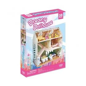 3D Пъзел Cubic Fun Къща за сглобяване от 160 части - КУКЛЕНСКА МЕЧТА