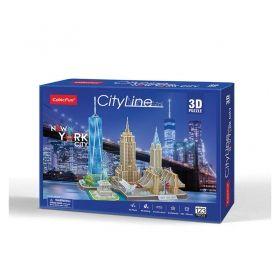3D Пъзел Cubic Fun от 123ч. - City Line New York City