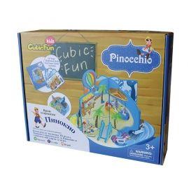 3D Пъзел Cubic Fun от 36 части - Приказка Пинокио на Български език