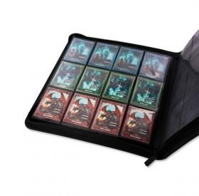 КЛАСЬОР ЗА КАРТИ - ULTIMATE GUARD ZIPFOLIO 12-POCKET 480 CARDS (за LCG, TCG и др) - ЧЕРЕН