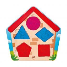 Дървен пъзел  Hape - Кой е в къщата