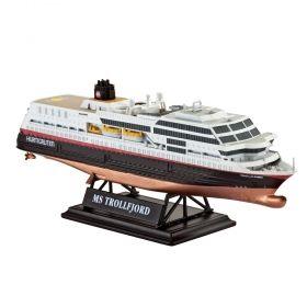 Круизен кораб MS Тролфьорд 1:1200 - Сглобяеми модели Revell