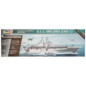 Американски военен кораб 2001- U.S.S. IWO JIMA (LHD-7) 1:350 - Сглобяеми модели Revell