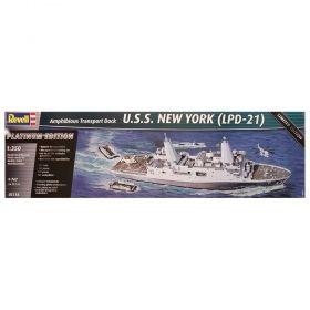Амфибиен транспортен кораб – U.S.S. New York (LPD-21) 1:350 - Сглобяеми модели Revell