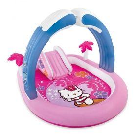 Надуваем център за игра с пързалка INTEX Hello Kitty