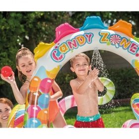 Надуваем център за игра с пързалка Бонбонландия INTEX Candy Zone