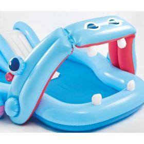 Надуваем център за игра с пързалка Хипопотам INTEX Hippo