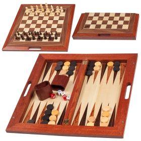 Дървен шах + табла