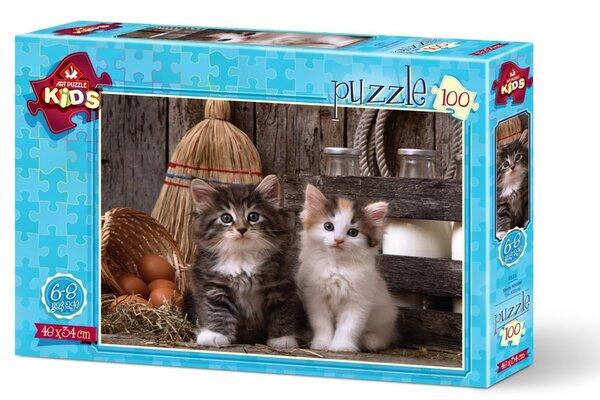 Пъзел Art Puzzle от 100 части - Котенцата