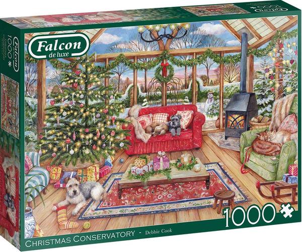 Пъзел от 1000 части Jumbo - Коледа, Деби Кук
