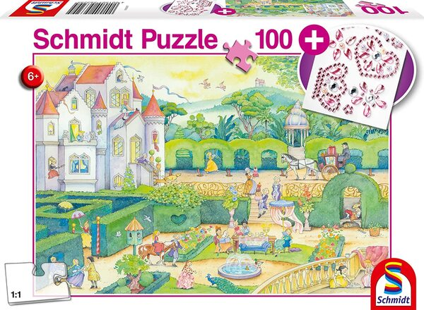 Пъзел Schmidt от 100 части - Животът на една принцеса, със стикери