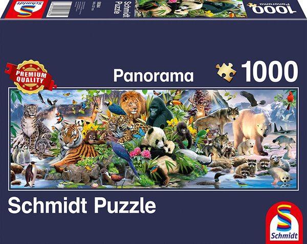 Панорамен пъзел Schmidt от 1000 части - Животинско царство