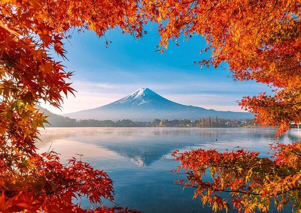 Пъзел Schmidt от 1000 части - Есенна магия край Фуджи, Япония