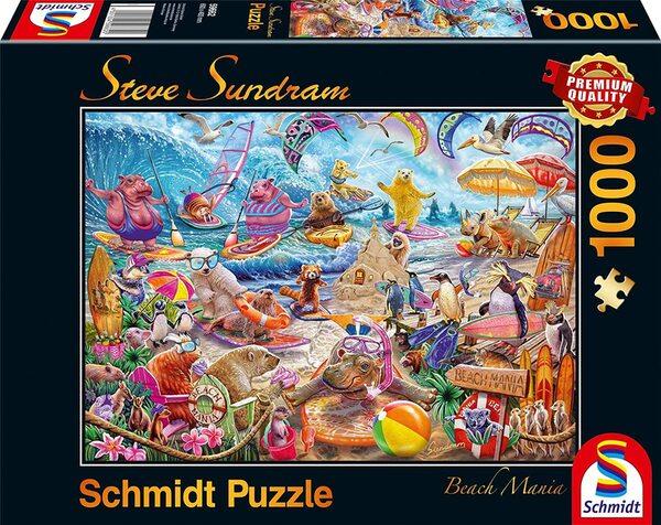 Пъзел Schmidt от 1000 части - Плажна мания, Стив Съндрам