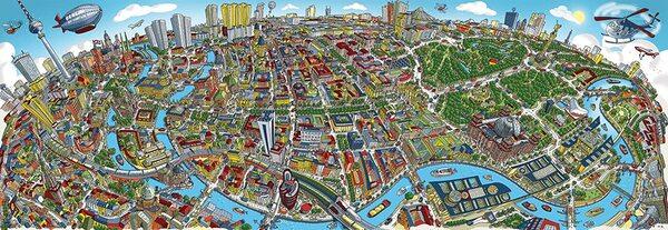 Панорамен пъзел Schmidt от 1000 части - Берлин, Хартуиг Браун