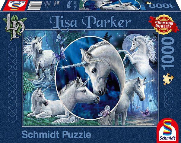 Пъзел Schmidt от 1000 части - Приказни еднорози, Лиса Паркър