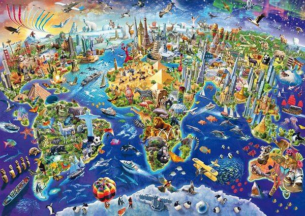 Пъзел Schmidt от 1000 части - Опознай света