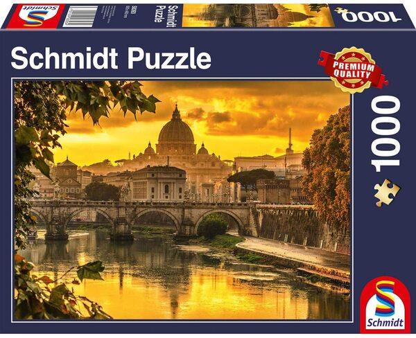 Пъзел Schmidt от 1000 части - Залез над Рим
