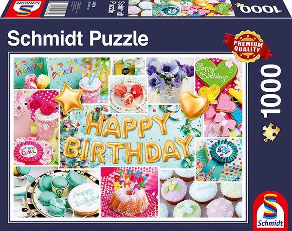 Пъзел Schmidt от 1000 части - Честит рожден ден