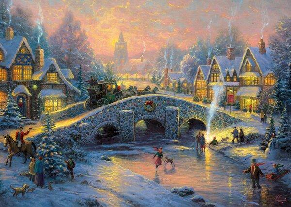 Пъзел от 1000 части Schmidt - Духа на Коледа, Томас Кинкейд