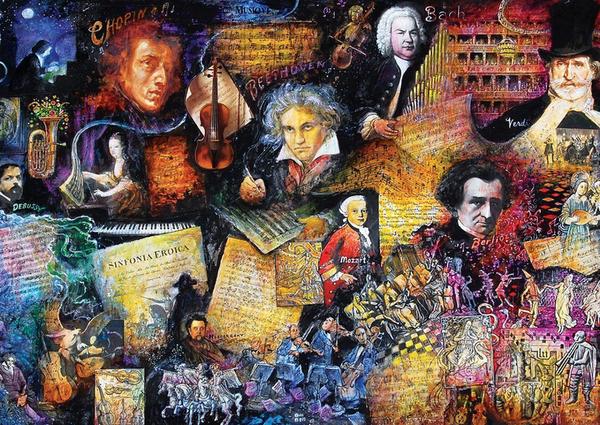 Пъзел Art Puzzle от 260 части - Доайените на музиката