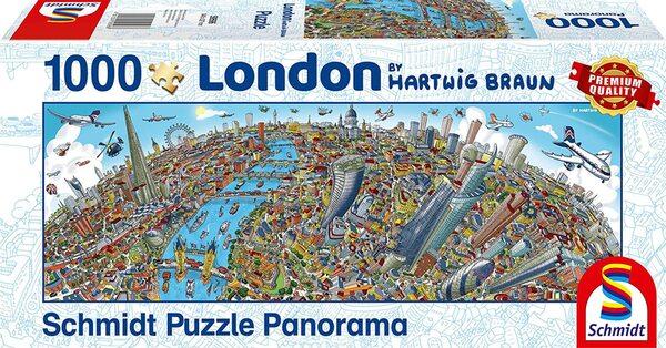 Панорамен пъзел Schmidt от 1000 части - Лондон, Хартуиг Браун
