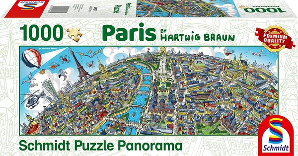 Панорамен пъзел Schmidt от 1000 части - Париж, Хартуиг Браун