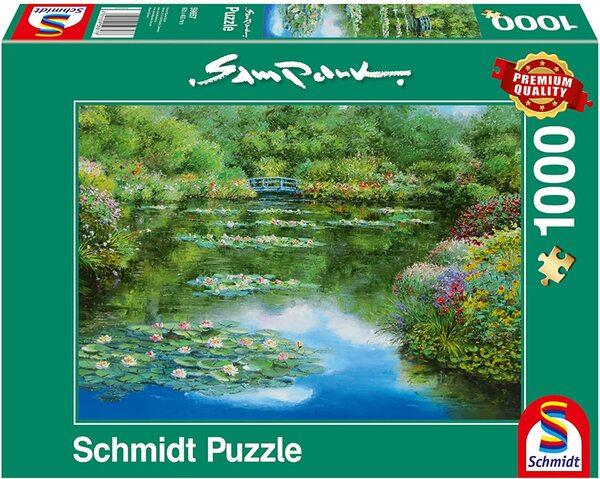 Пъзел Schmidt от 1000 части - Езерото с водните лилии, Сам Парк